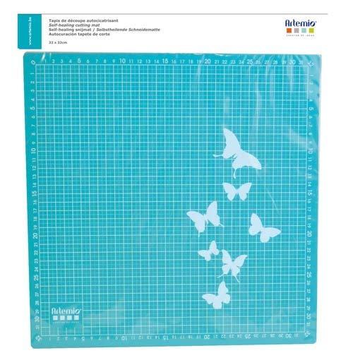 Artemio 18004009 Tapis de Découpe Auto cicatrisant, Plastique, Bleu, 36 x 1 x 39,5 cm