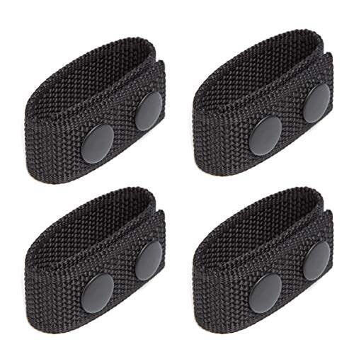 """LUITON Duty Belt Keeper with Double Snaps for 2¼"""" Wide Belt Security Tactical Belt Police Military Equipment Accessories (Set of 4)"""