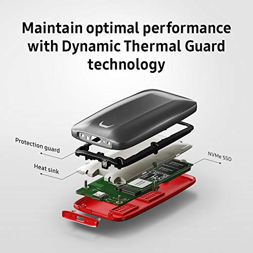 SAMSUNG X5 Portable SSD (1 TB, Thunderbolt 3, NVMe) - 9