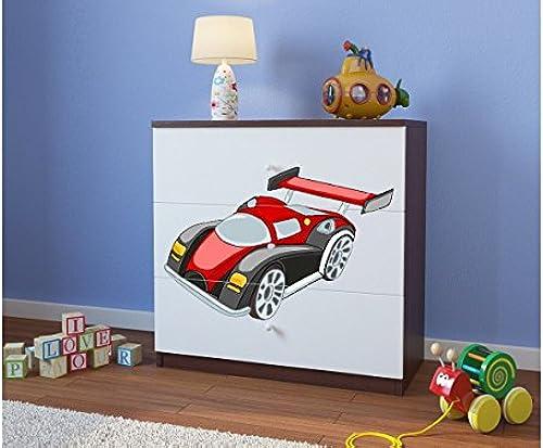 CARELLIA 'Kommode Kinder Auto Running 3 hubladen Wenge