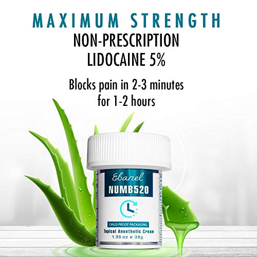 Ebanel 5% Lidocaine Topical Numbing Cream Maximum Strength