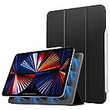 Dadanism Funda Compatible con iPad Pro 12.9 2021,Cubierta con Función de Carga del Lápiz Auto Sueño/Estela Cover para iPad Pro 12.9 2021, Negro