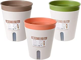 PENCK Plastic Planter Flower Plant Pot Automatic Water Supply Garden Nursery Planter Pots Holder Container with Removal Sa...