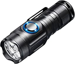 LED Torch Flashlight Super Bright Pocket Size Suit for Camping Cycling Running Walking and More Outdoor Use Electric (Colo...