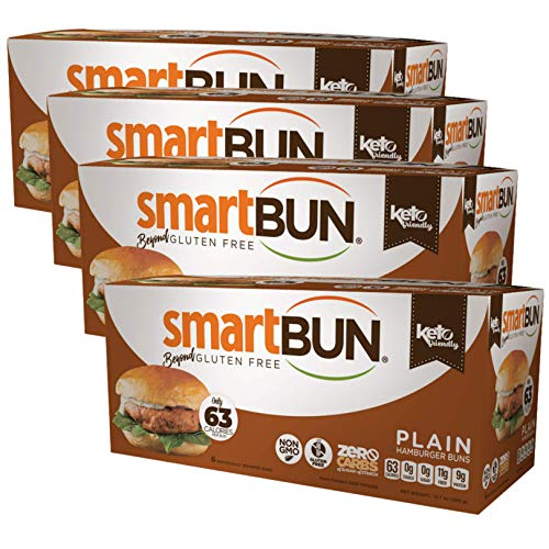 Smart Baking Company Smartbuns, Gluten Free, Sugar Free and Carb Free Buns (Plain)