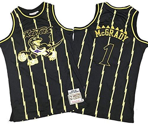 SP-Sport Tracy McGrady Pallacanestro Jersey Toronto Raptors 1# NBA Jersey, Retro Jersey Classico, Comodo/Leggero/Traspirante Ricamati Mesh Unisex Felpa,A,XL(180~185CM/85~95KG)