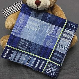 Jacquard Weave Cotton Square Men Handkerchief Pocket Hanky Wedding Party - Blue