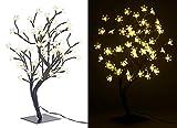 Lunartec LED Baum klein: LED-Baum mit 64 beleuchteten Blüten, 45 cm, IP44, für innen & außen (LED...