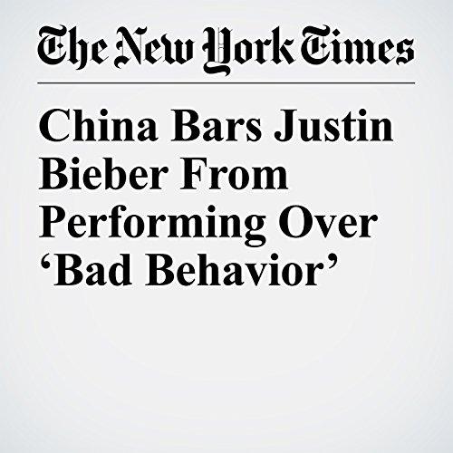 China Bars Justin Bieber From Performing Over 'Bad Behavior' copertina