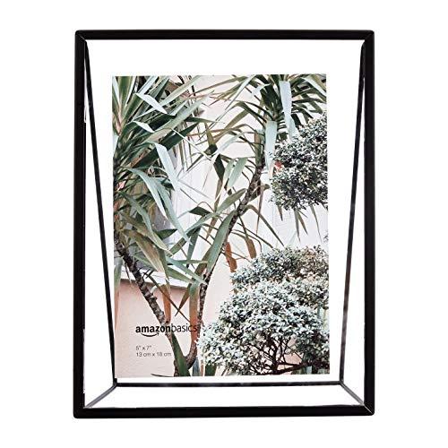 Amazon Basics Schwebender Keil-Bilderrahmen, 13 x 18 cm, Schwarz