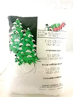 Soft Snow Artificial Snow Flakes, Synthetic Loose Flakes, 3.5 Quart Bag