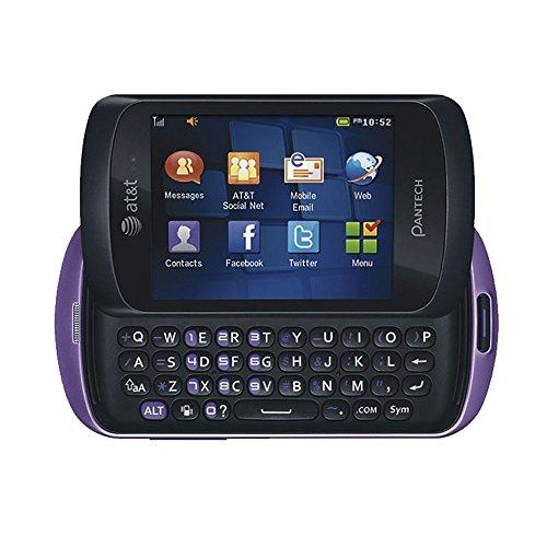 Pantech Swift P6020 Unlocked GSM Slider Cell Phone - Purple