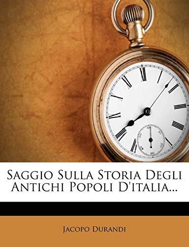 Saggio Sulla Storia Degli Antichi Popoli D'Italia...