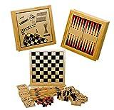 E-line Aufbewahrungsbox für Gesellschaftsspiele, Fünf in einem, aus Holz -