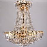Lujo real Imperio oro Europan cristal lámpara gran iluminación contemporánea...