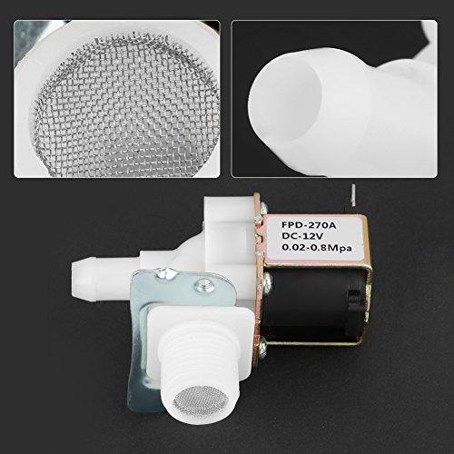 Válvula electromagnética de DC 12V N/C, calentador de agua solar de la válvula solenoide para el equipo eléctrico