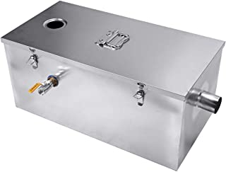 BEAMNOVA Commercial 25LB Grease Trap 13 Gallons Per Minute, Top Inlet