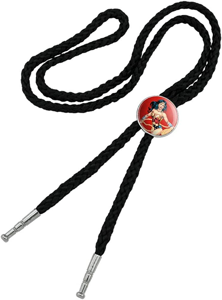 Wonder Woman Character Spring new work one Max 52% OFF after another Western Southwest Necktie Bolo Cowboy Bow