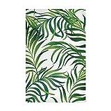 Strofinacci da cucina Set 4 Jungle Vector Pattern Foglie tropicali Asciugamano da cucina e...