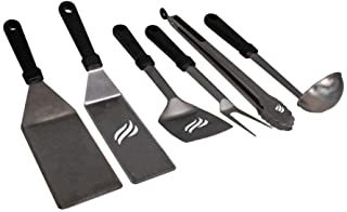 Blackstone 5051 Griddle Accessories Set Heat Resistant 6 Piece Stainless Steel Outdoor Indoor Grilling Utensils Hibachi To...