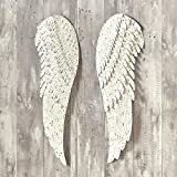 Briskly41 Heavenly Angel Metal Wings Religious Hanging Wall Decor 2 Pieces