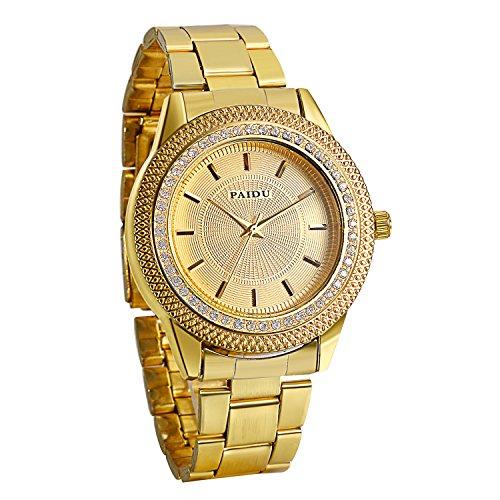 Reloj dorado brillantes | Mejor Precio de 2020