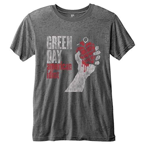 Green Day T-Shirt - Uomo Grey Medium