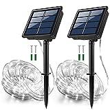 JosMega Solar String Rope Lights 33 Feet 100 LED Outdoors 8 Modes Twinkle...