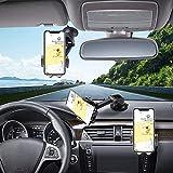 Hapfish Soporte Coche Movil, 3 in 1 Soporte del Coche Móvil Universal para Salpicadero y Parabrisas y Ventilación, 360° Rotación Ajustable Soporte Telefono Coche para iPhone 12 11 Pro MAX, Samsung