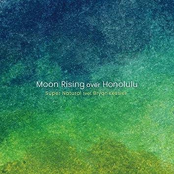 Moon Rising over Honolulu