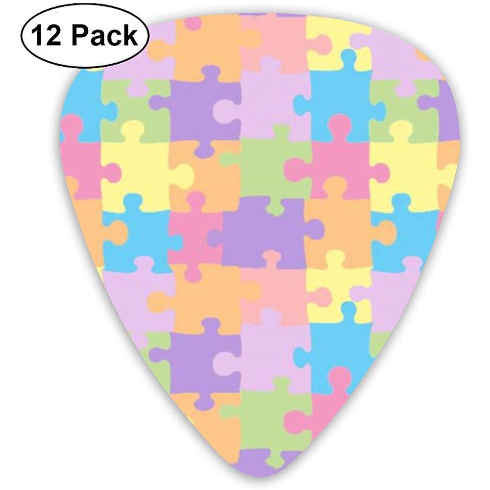 Puzzle Autism 12 Pack Púas de guitarra, guitarras eléctricas y acústicas: Amazon.es: Instrumentos musicales