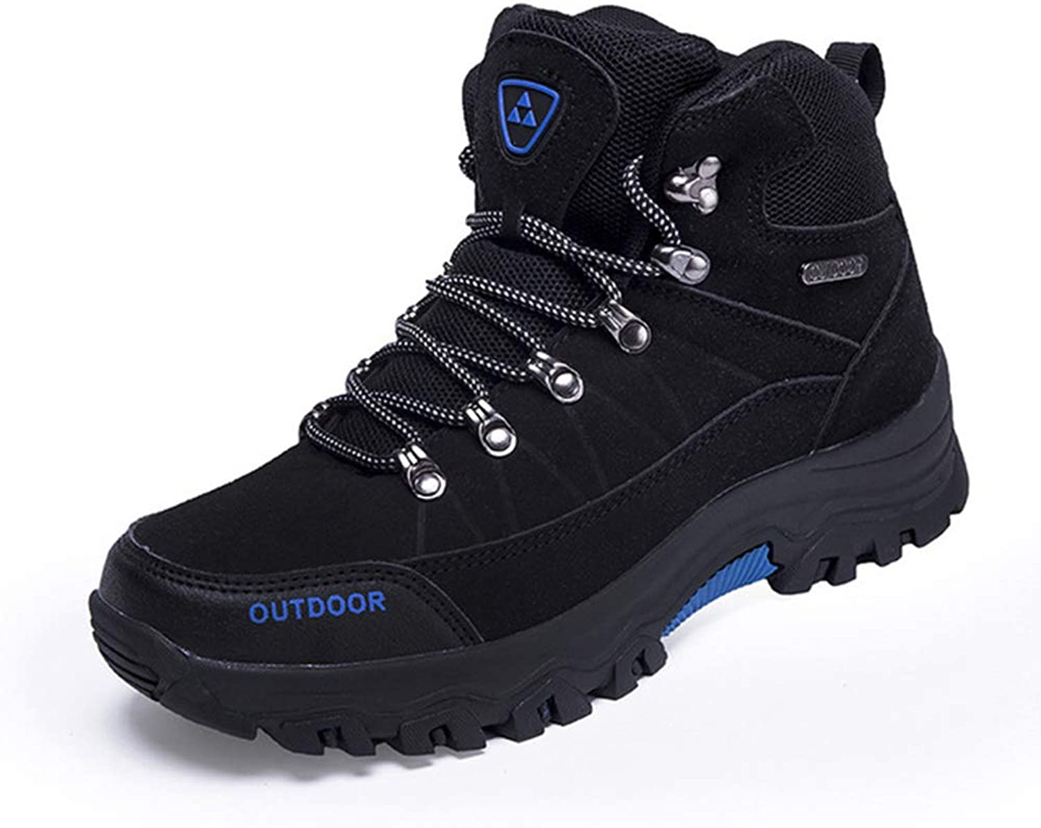 ZXLO Men's Boots Winter Waterproof Leather Work Safety Boots Outdoor Hiking shoes