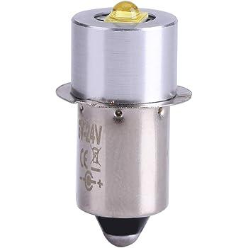 Salinr オーム電機 LED電球 懐中ライト交換用LED球 LED交換球 交換用LED球 ライト交換用LED球 懐中電灯用LED交換球 懐中電灯用 通用 交換用 電球 6—24V 5W LED-P13.5S 23mm*9mm