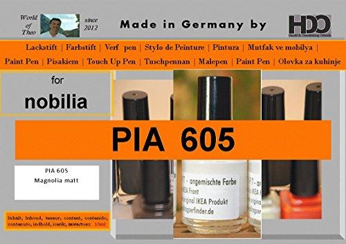 HDO Farbstift Lackstift Touch-up-Pen for Nobilia PIA 605 Magnolia Matt