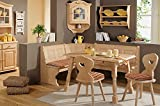 Farmhouse Breakfast Nook Furniture, The Amberg 4 Piece Dining Set Bring a Rustic Country Feel to Your Kitchen