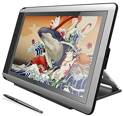 Xyfw Monitor De Tableta Digital con Soporte, Monitor De Dibujo Gráfico, Pantalla De Lápiz con Función De Inclinación De Lápiz Sin Batería para Win Mac