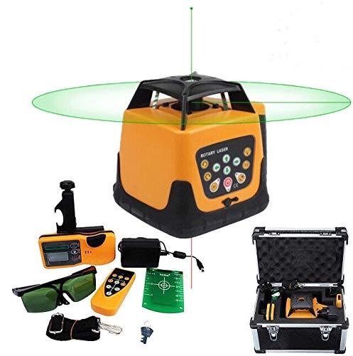 Iglobalbuy 360°Automatic Self-leveling Rotary Laser Level Green Beam 500M Range Electronic Self-leveling Rotating Laser Level Tool Kit with Remote Control