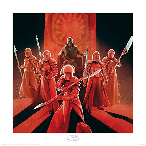 1art1 Star Wars - Episodio VIII Los Últimos Jedi, Snoke Guardia Pretoriana De Élite Póster Impresión Artística (40 x 40cm)