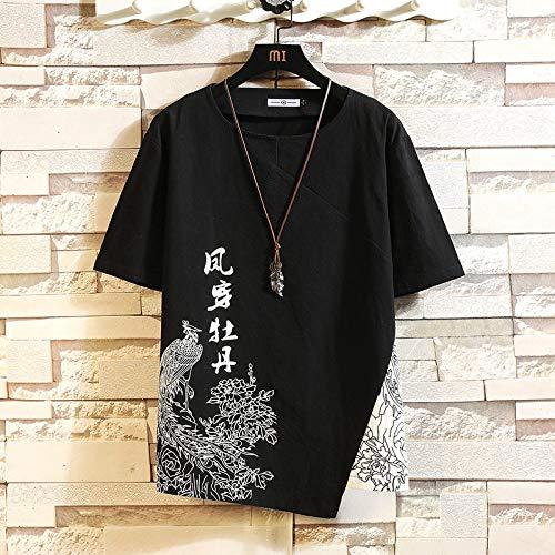 Camiseta para Hombre,Camisetas Extragrandes De La Novedad del Hip Hop,Camisetas Personalizadas De Moda De Manga Corta con Estampado De Phoenix Chino Tops Casual Streetwear para Verano Adolescente Al