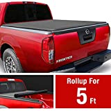 MaxMate Soft Roll Up Truck Bed Tonneau Cover Compatible with 2005-2021 Nissan Frontier; 2009-2012 Suzuki Equator | Fleetside 5' Bed