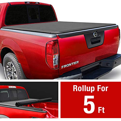 MaxMate Soft Roll Up Truck Bed Tonneau Cover Compatible with 2005-2020 Nissan Frontier; 2009-2012 Suzuki Equator | Fleetside 5' Bed