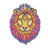 Puzzle Adulto Rompecabezas de Madera Piezas únicas de Rompecabezas de Animales,Rompecabezas de Animales para Adultos lo Mejor para la colección de Juegos Familiares (5mm León -123pcs)
