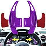2Pcs Steering Wheel Shift Paddle Extended Shifter Trim Cover for Ford Mustang 2015~2020 Aluminum Interior Decoration Accessories (Purple)