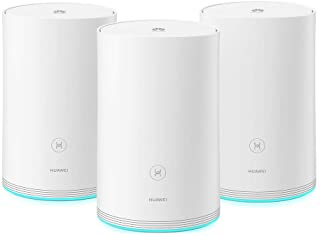 HUAWEI HUW-WS5280-3BASE-WHT (3 Pack Hybrid) Router, 5GHz Mesh, Home Wi-Fi Q2 Pro System, Gigabit Powerline, Full GE Ports,...