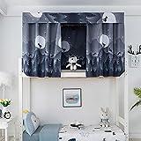 ipenny - tenda a baldacchino per dormitorio per studenti, a castello e a castello antipolvere, in tessuto oscurante, per letto a soppalco, dormitorio, dormitorio, dormitorio e privacy