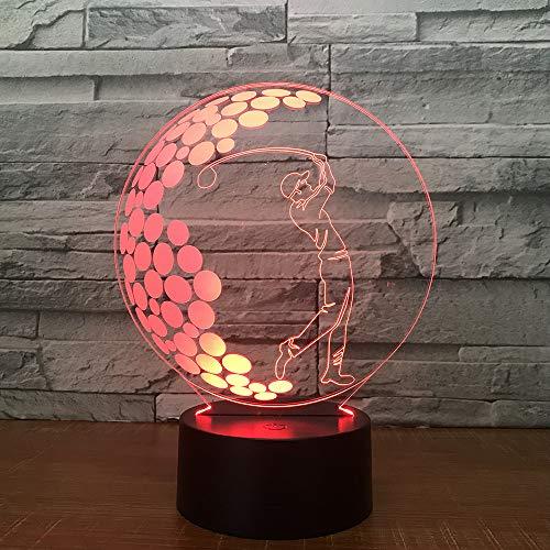 Luces de Golf, Luces táctiles nocturnas, lámparas de pie comerciales, candelabros