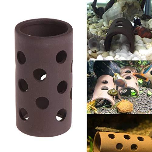 SimpleLife Aquarium Tank Tube Zucht Verstecken Höhle Shelter mit Löchern für Fisch-Garnelen-Pflanze