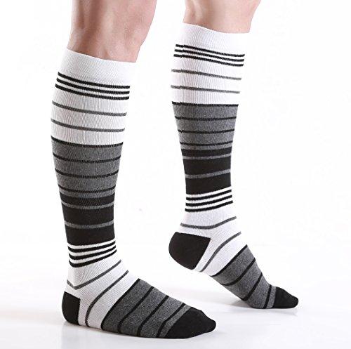 6 Pairs Women's Graduated Compression Trouser Socks 8-15mmHg