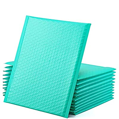 GSSUSA Teal Poly Bubble Mailers 8.5x12 Padded Envelopes #2 Shipping Envelopes Bubble Mailers Self Sealing Padded Envelope 25Pack