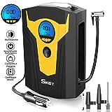 SKEY Compressore Portatile per Auto, 12V 120W 150PSI Mini Pompa Elettrica con Display Digitale, LED...